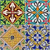 Vintage ceramic tiles — Stock Photo