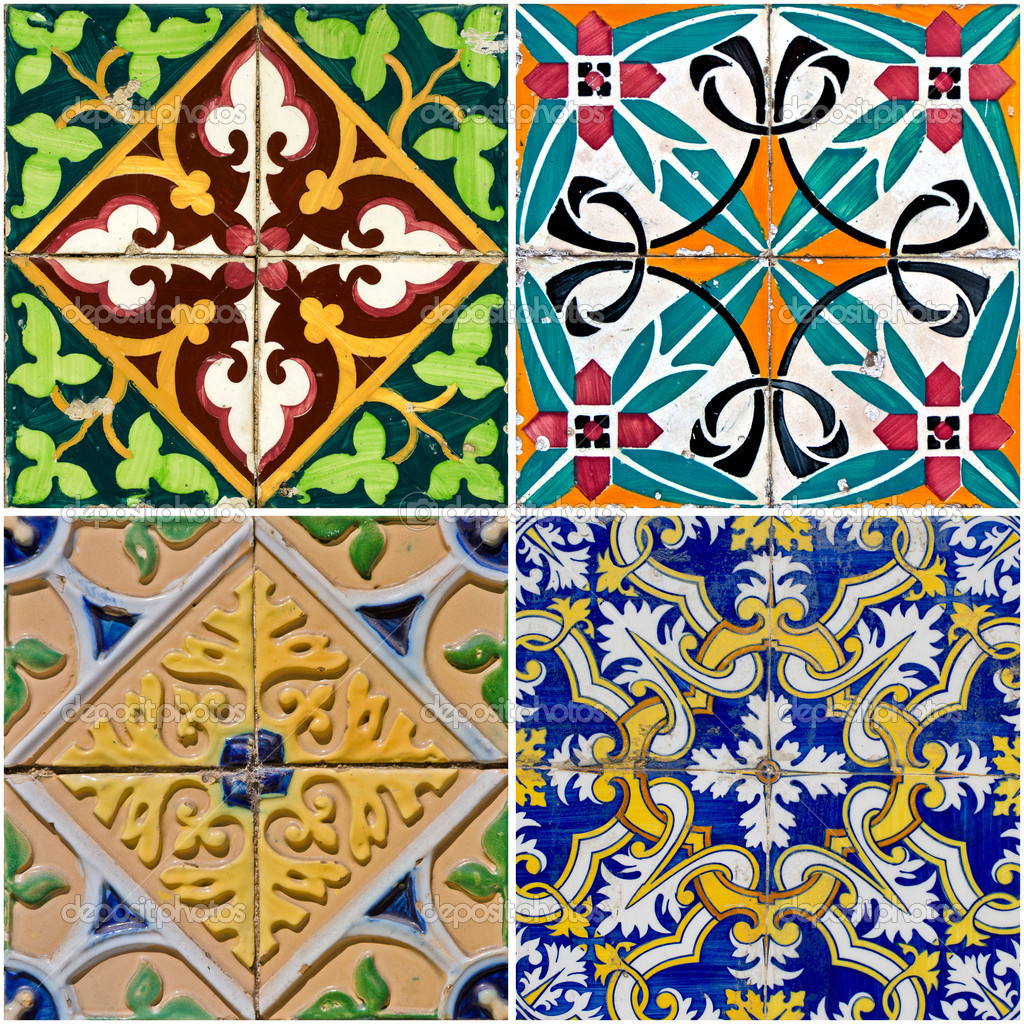 French Hand Painted Ceramic Tiles