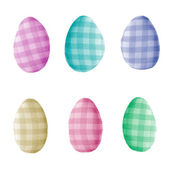 Easter egg shape decorations — Stock Photo