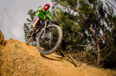 MTB downhill — Stock Photo