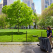 Keeping NYC Park Clean — Stock Photo