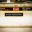 Penn Station Subway NYC - Stock Photo