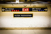 Penn station metro nyc — Stockfoto