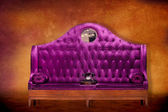 Fancy Purple Velvet Seat — Stock Photo