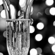 Champagne in a crystal glass — Stock Photo