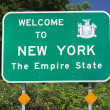 NY State Welcome Sign — Stock Photo #8605775