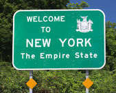 NY State Welcome Sign — Stock Photo