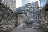 Irish Hunger Memorial NYC — Stock Photo