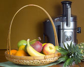 Fruit and Electric Juicer — Stock Photo
