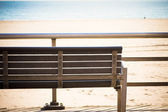 Boardwalk Bench — Stock Photo