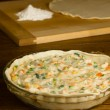 Stock Photo: Chicken Pot Pie Preparation