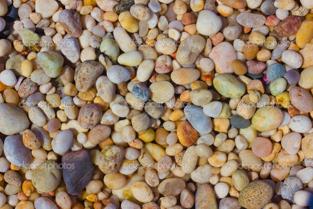 Assorted coastal pebbles  Stock Photo #9780965