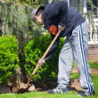 Teenage boy gardening — Stock Photo