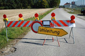 Diversion to other road — Stock Photo