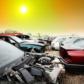 Cars to be scrapped — Stock Photo