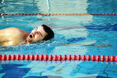 Man swimming — Stock Photo