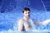 Water splash on nan body — 图库照片
