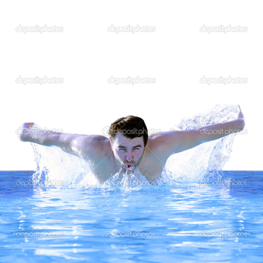 Man swimming butterfly stock photo photochecker 9043378 for Pool man show