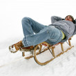 Auto towing sled pull — Stock Photo