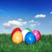 Colorful Easter egg mix — Stock Photo