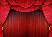 Opera house with elegant curtains — Stock Photo