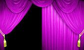 Cortinas de terciopelo rosa — Foto de Stock