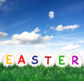 Easter font — Stock Photo