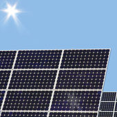 Solar energy for electricity generation — Stock Photo