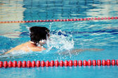 Swimmer in water — Stock Photo