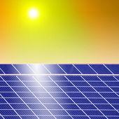 Zonnepanelen macht — Stockfoto