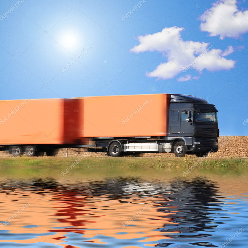 Truck on the road of Germany  Stock Photo #9285493