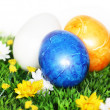 Royalty-Free Stock Photo: Blue Easter Egg in focus