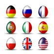 Egg collection from many countries — Stock Photo