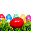 Red Easter egg — Stock Photo #9798239