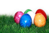 Easter eggs in color — Stock Photo