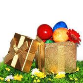 Ostern Geschenk-box — Stockfoto