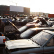 Scrap yard for recycling cars — Stock Photo