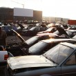 Scrap yard for recycling cars - Stock Photo