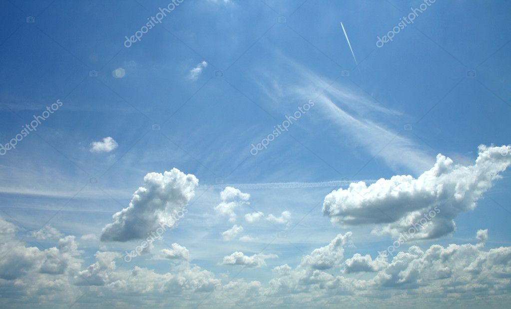 White clouds on blue sky — Stock Photo #9858353