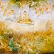 Religious painting in a Buddhist temple — Stock Photo