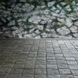 Ancient stone pavement — Stock Photo