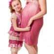 Pregnant woman and daughter — Stock Photo