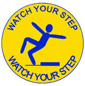 Watch your step — Stock Photo