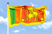 National flag of Sri Lanka — Stock Photo