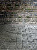 Pavimento de pedra antigo — Fotografia Stock