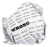 Wrong do not need to — Stock Photo
