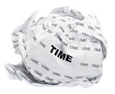 Crumpled time — Stock Photo