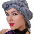 Portrait of woman in a turban — Stock Photo #8418793
