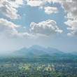 View from mount Sigiriya into the valley, Sri Lanka (Ceylon). — Stock Photo