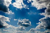 Relief beautiful clouds — Stock Photo